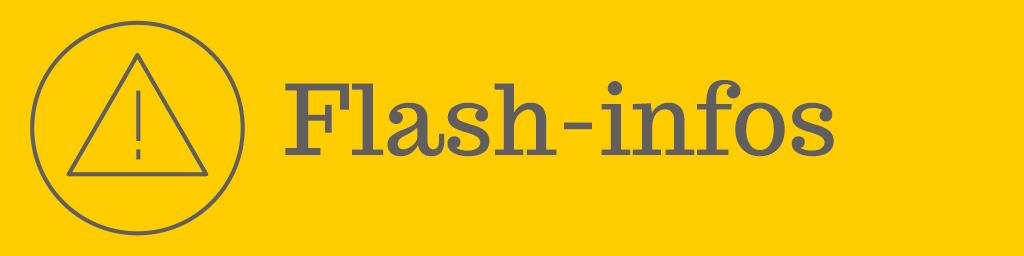 Flash-Infos – Infos circulation pour le 23-11-2018